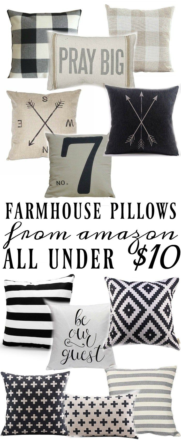 Cheap Decorative Pillows Under $10 Amazing Farmhouse Style Pillows All Under $10  Big Pillows Grey Stripes Decorating Design