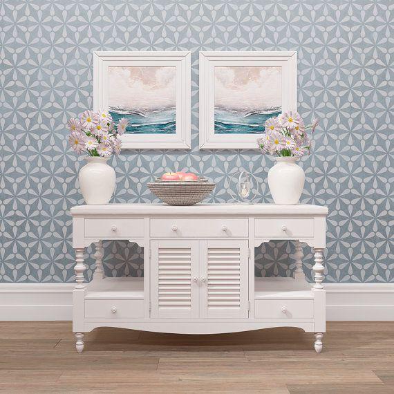 muster wand schablone dekoratives muster von stencilslabny schablonen vordrucke folien etc. Black Bedroom Furniture Sets. Home Design Ideas