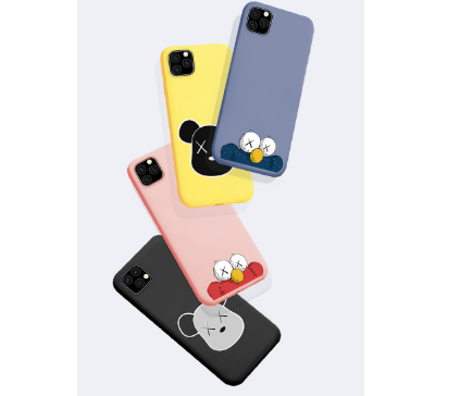 KAWS Style Sesame Street Silicone Designer iPhone Case For