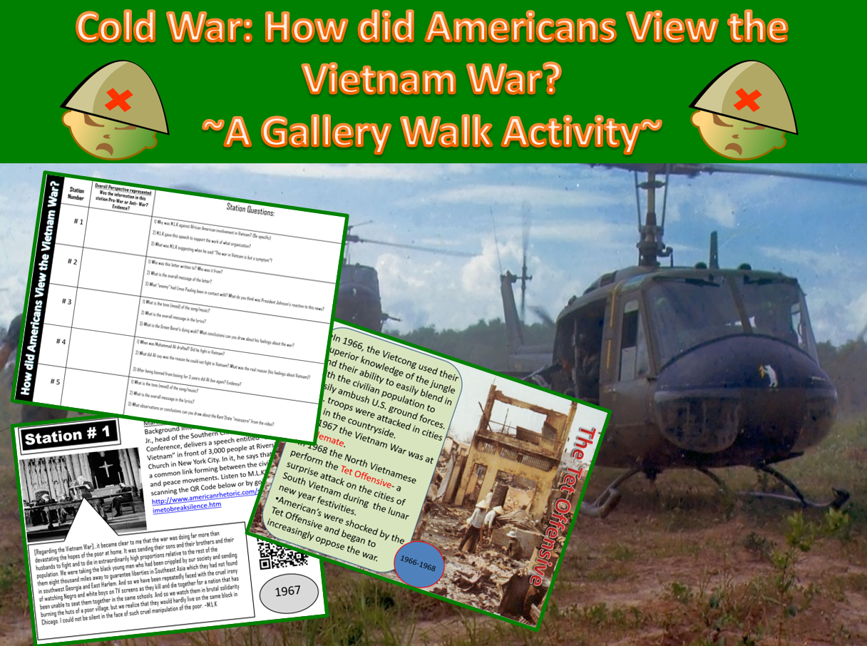 The Vietnam War A Power Point Amp Gallery Walk Student