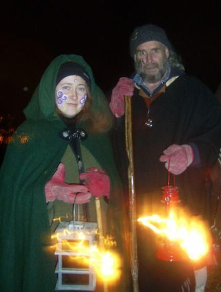 This year we ended 2010 and begun 2011 with a water ceremony followed by three fire ceremonies at Samhain Sacred Sites in Ireland on Friday the 5th of November 2010. The Druí of the Dark Moon Grove gathered at the Druid's Well on the south slopes of the Hill of the Bard - we know this hill as the Hill of Tlachtga, the Earth Goddess. The image below show this ancient immersion well. It has survived renaming by the church and retains its early designation as a Well of the Druids