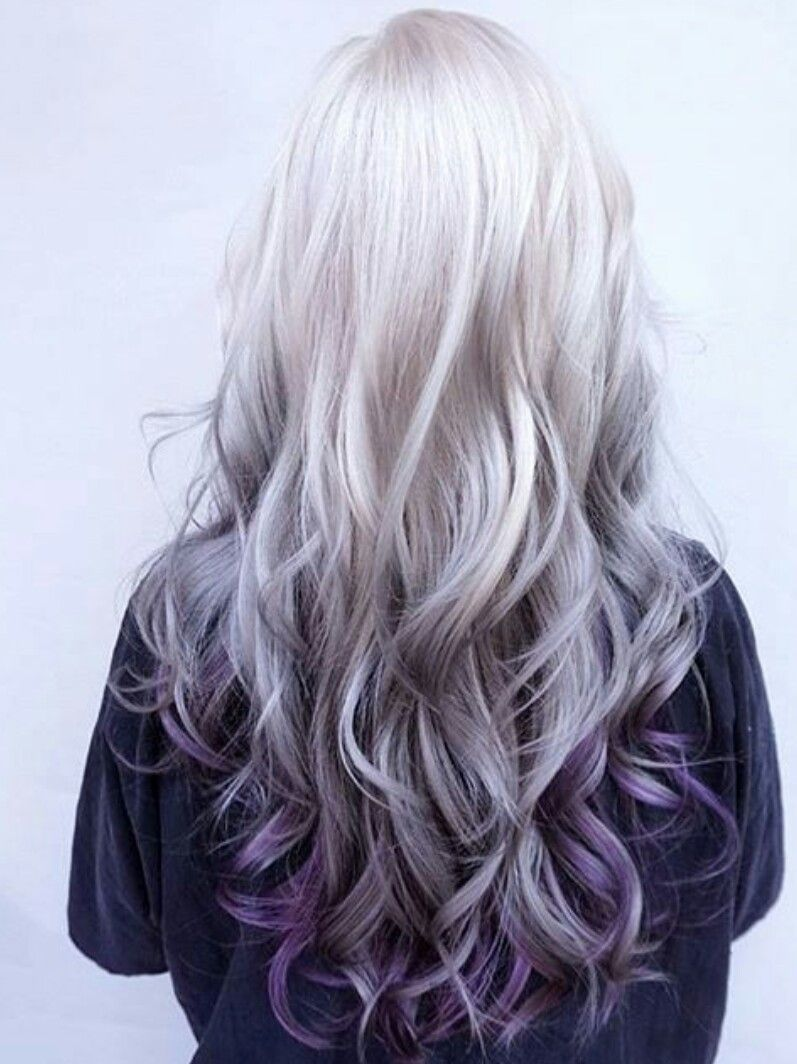 Purple Ombre Fade Hair Color Pastel Hair Styles Long Hair Styles
