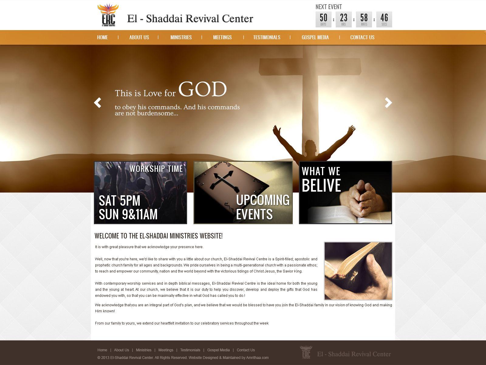 El Shaddairevivalcentre.com
