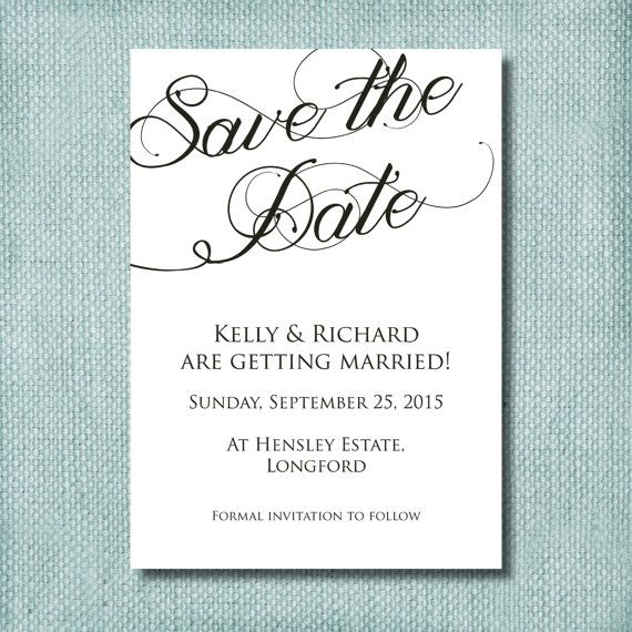Black and white save the date l diy printable l professional black and white save the date l diy printable l professional printing stopboris Image collections