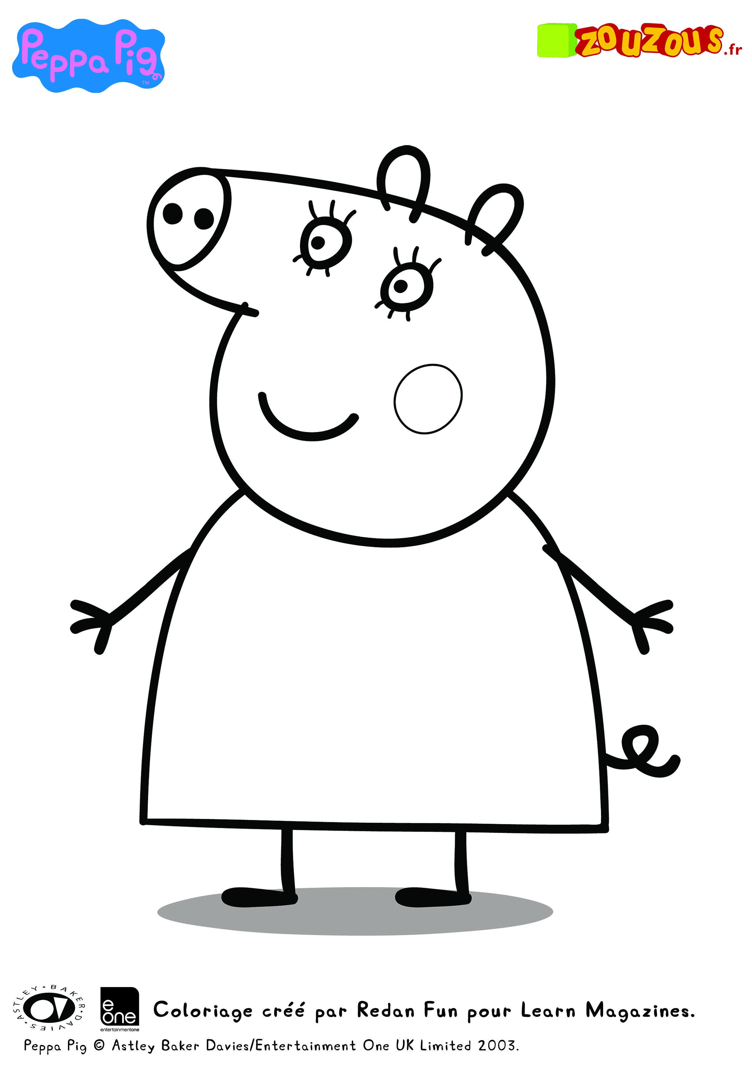 Meilleur De Dessin à Colorier Gratuit à Imprimer Peppa Pig