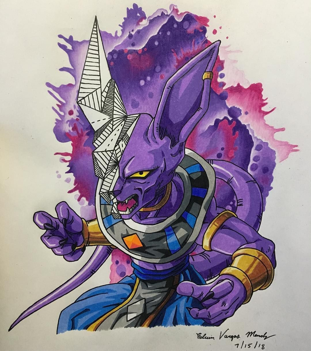 Pin By Omar English On Dbz Beerus Lord Beerus Drawings