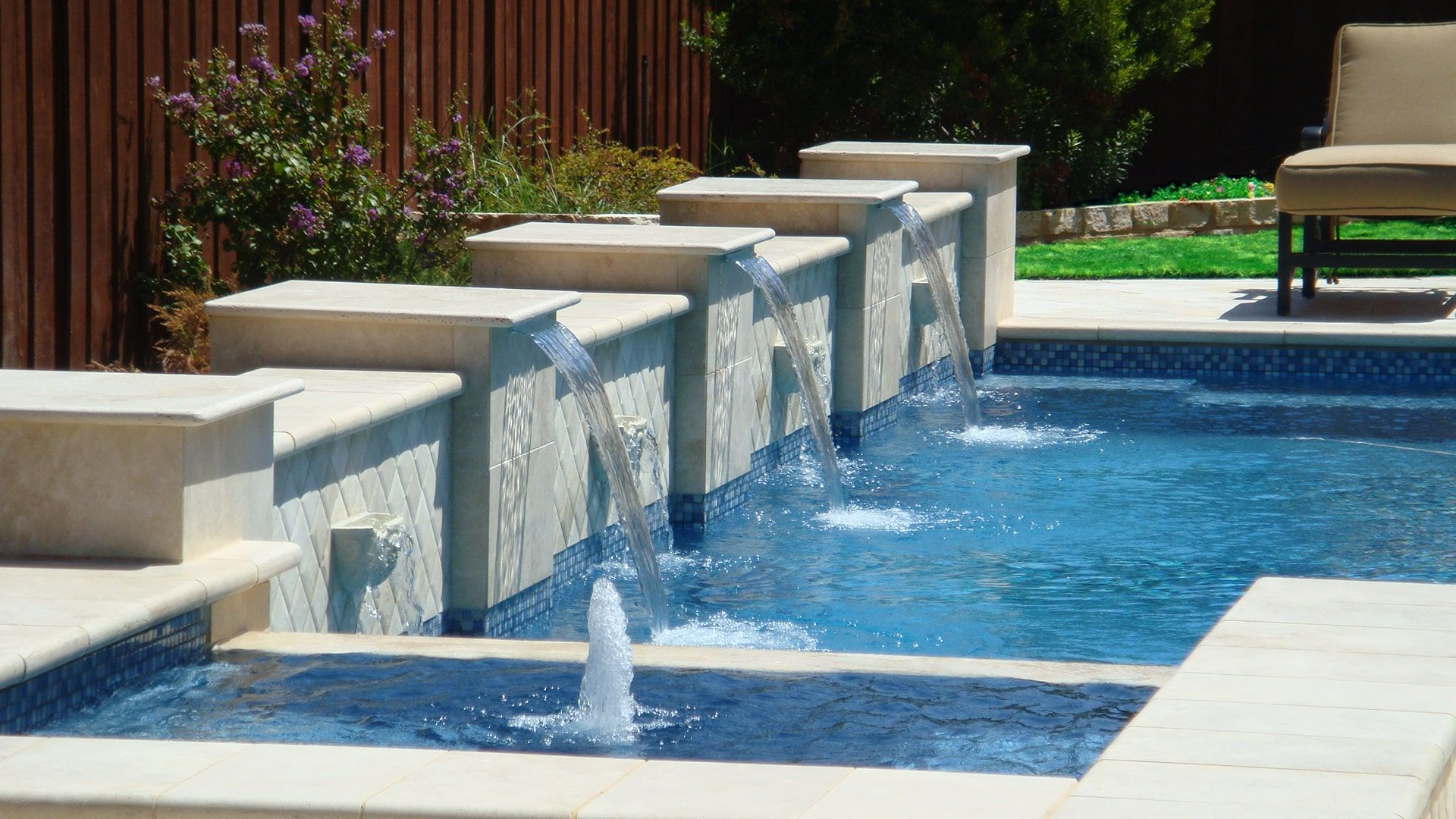Swimming Pool Contractors In Dubai Pool And Water Features Companies In 2020 Swimming Pool Landscaping Pool Contractors Landscaping Company