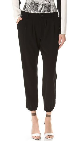 10 Crosby Derek Lam Cinched Ankle Pants