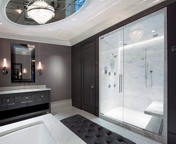Bathroom Decorating Tips For A Clean Look Contemporary Bathrooms Chandeliers And