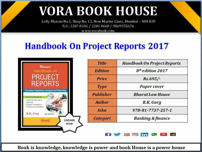 Title - Handbook on Project Reports 2017 Author - R K Garg - project report