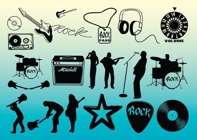 libre de vectores de la música rock Vector Gratis