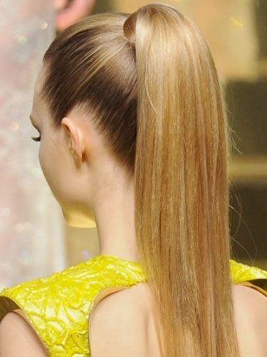 Versace Duz Sac At Kuyrugu Sac Modelleri Sik Sac Modelleri