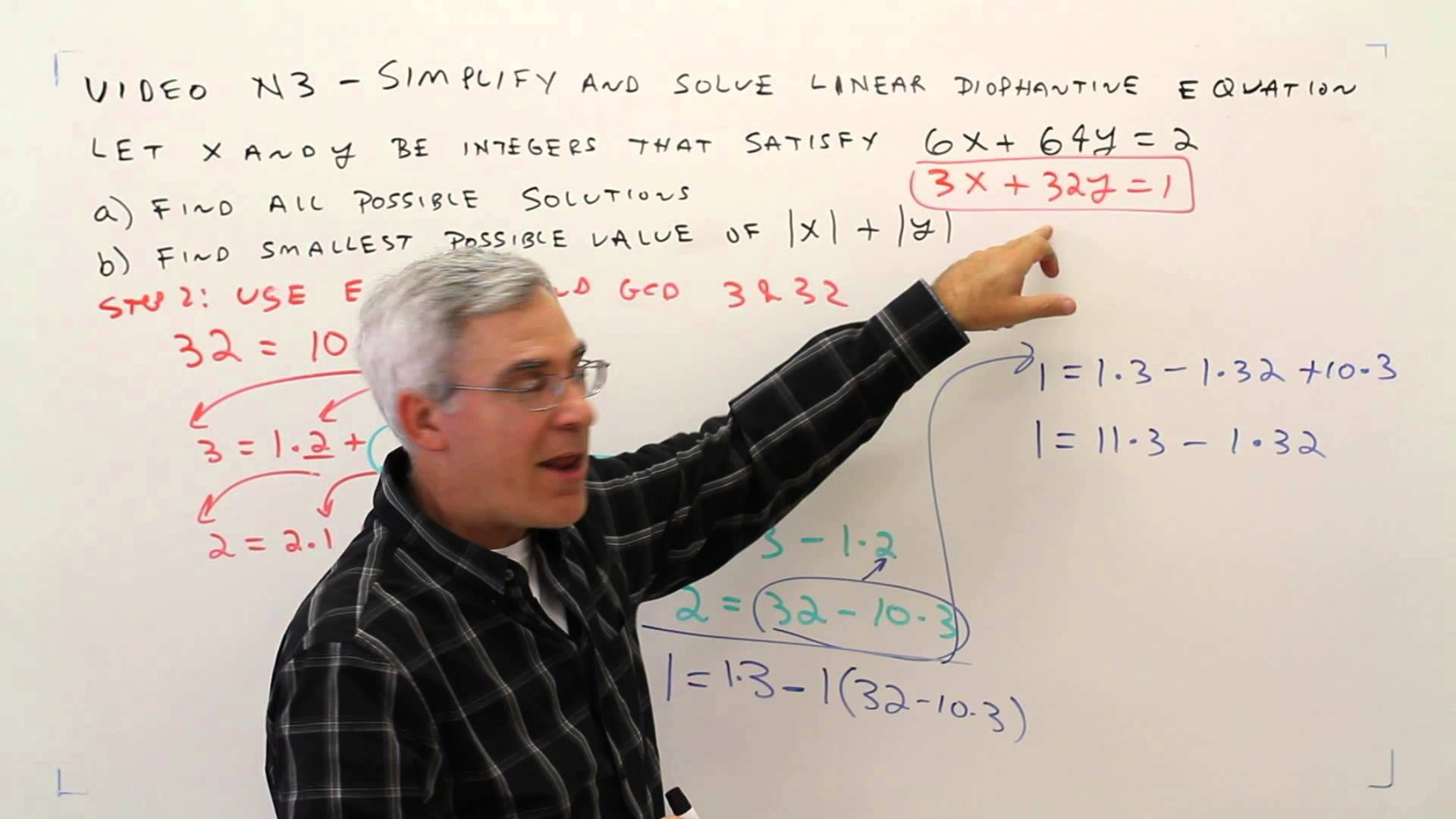 N3 Simplify And Solve Linear Diophantine Equation