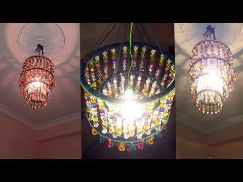 How to make jhumar wall hanging decoration diy crystal how to make jhumar wall hanging decoration diy crystal chandelier home decorating ideas aloadofball Image collections
