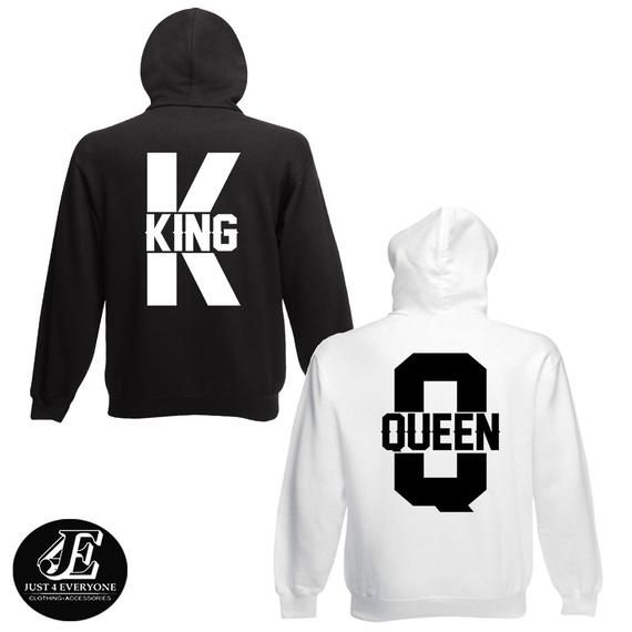 6149fea15d King Queen, King Queen Hoodies, Set of King & Queen, Pärchen Pullover, Couples  Sweatshirts, King Queen Sweaters, Matching Hoodies,