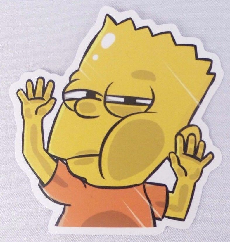Bart simpson funny vinyl sticker decal skateboard laptop phone the simpsons 1 unbranded