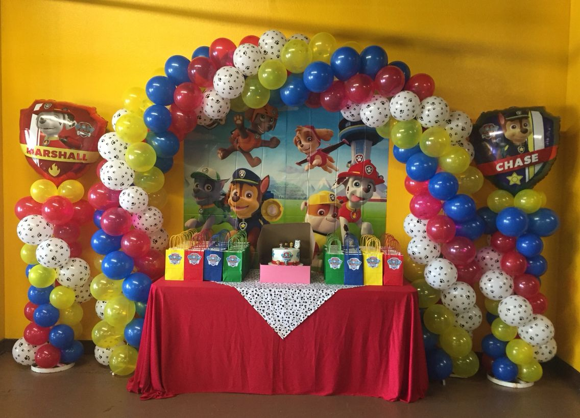 Paw patrol balloon decor pinterest globos