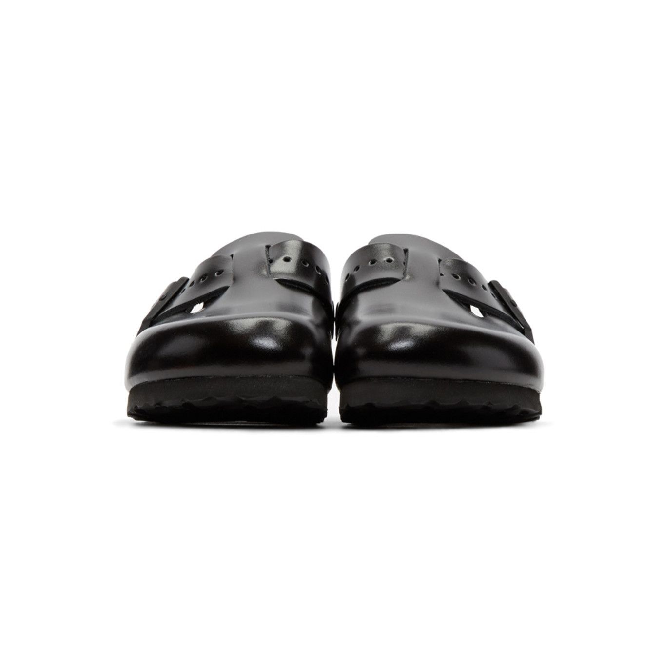 Black BIRKENSTOCK Edition Leather Boston Slip-On Loafers Rick Owens xfDsXS