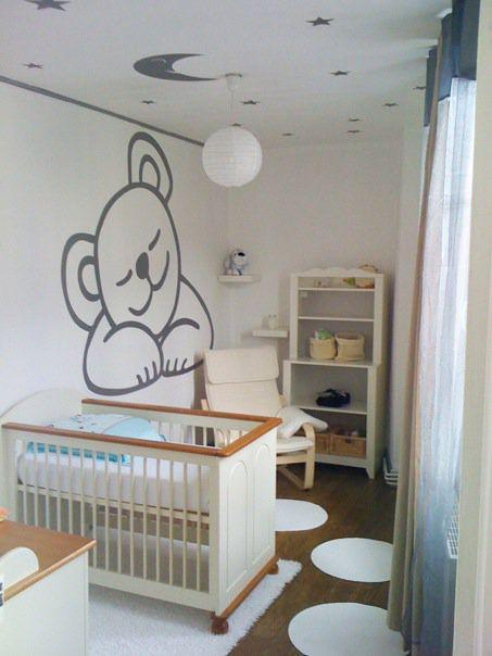 chambre bebe - petite tapis ronds et siège confo | déco | Bebe et Moises