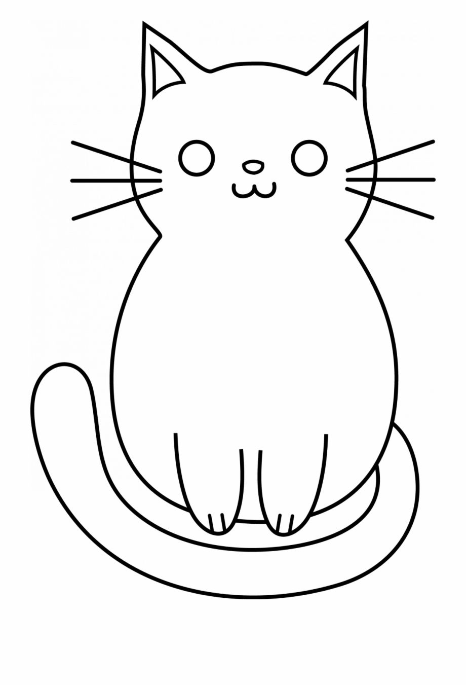 Cute Drawings Cat Easy In 2020 With Images Cute Drawings