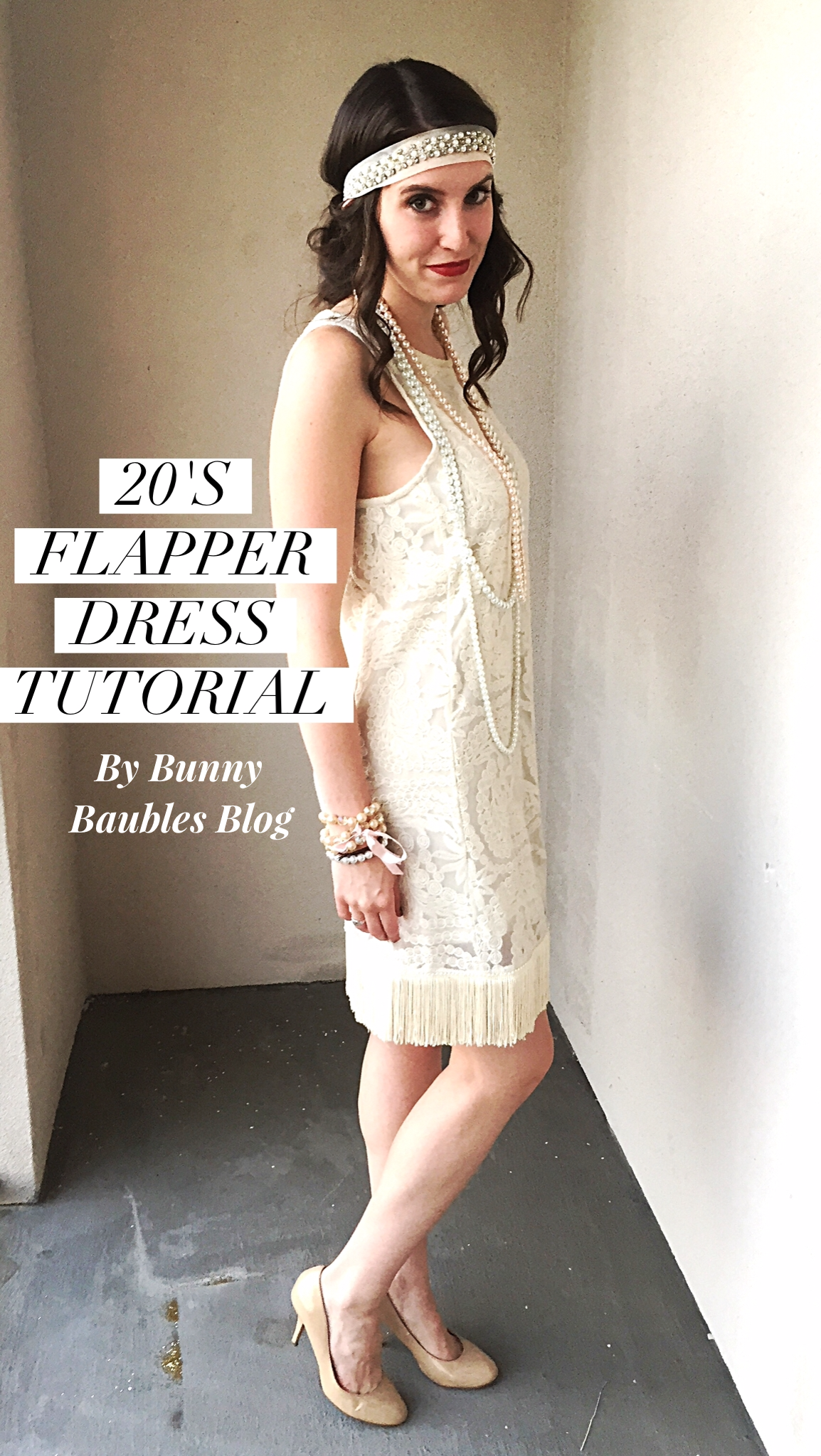 Easy 20 s flapper dress costume diy sewing tutorial 20s for Diy party dress