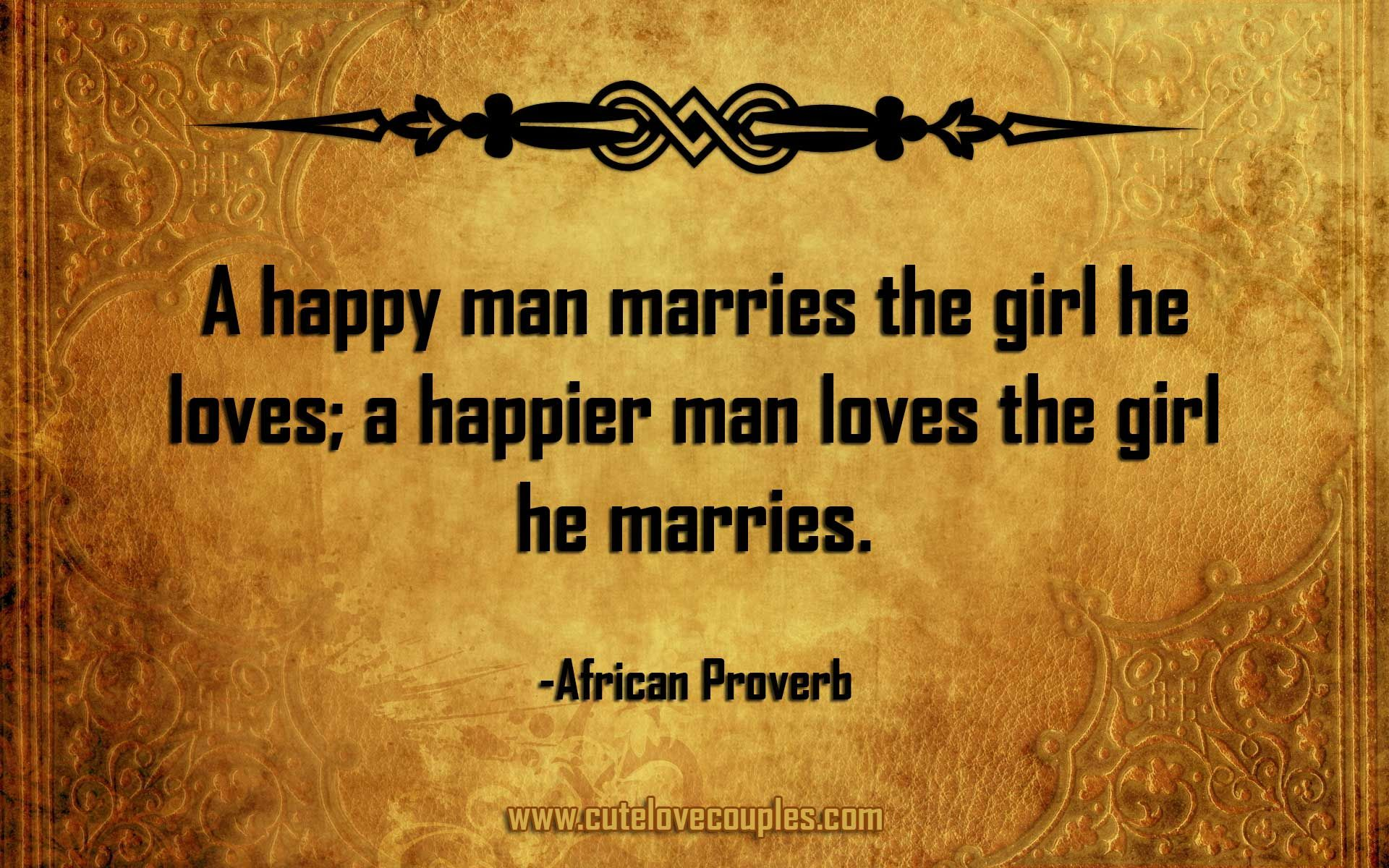 African proverbs on love and marriage