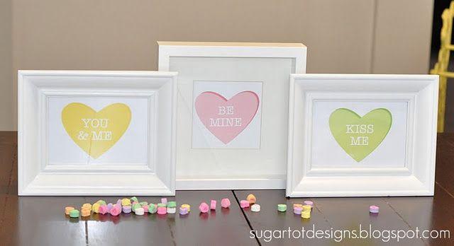 Conversation Valentine Hearts Printables
