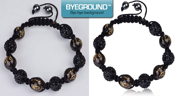Shamballa/Nialaya looking bracelet, before and after background has been removed! Try Byeground.com today and see what we can do for your images!
