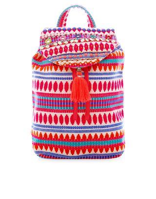 Pom Pom Tassel Backpack