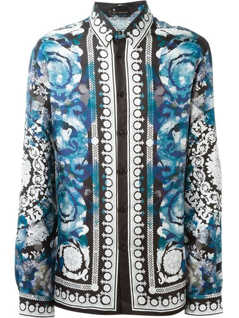 1be5d4eb VERSACE Baroque Print Shirt. #versace #cloth #shirt | Versace Men in ...