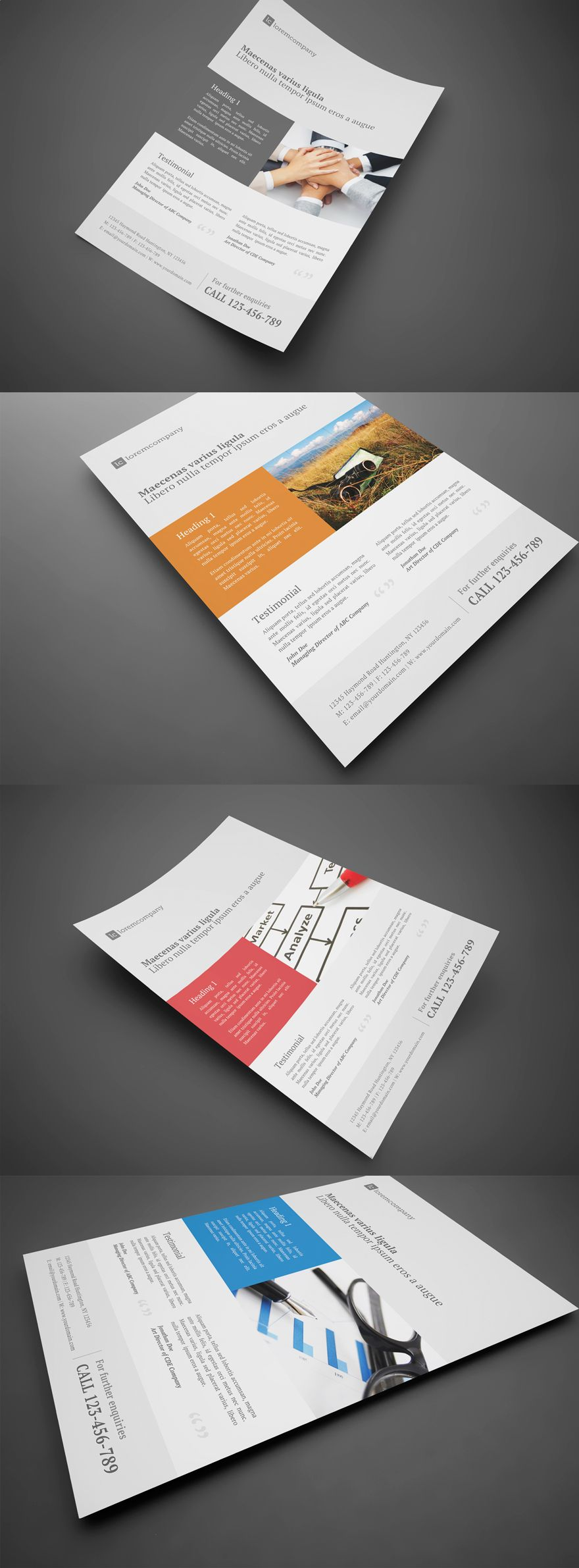 Clean Professional Corporate Flyer By Glenngoh Via Creattica