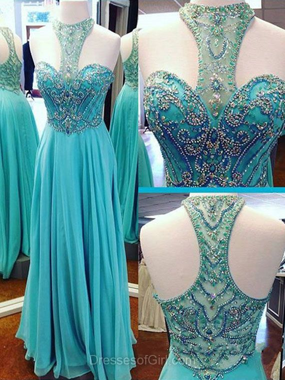 Affordable Prom Dresses, Chiffon Beading Party Dresses, Long Evening ...