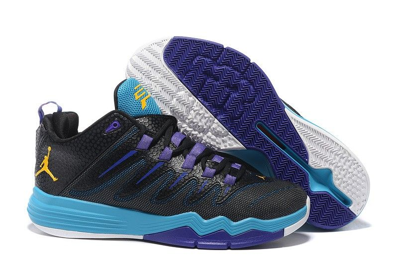 f4f1fd32e4e Nike Jordan Men s Jordan CP3 IX AE Basketball Shoes Black Purple ...