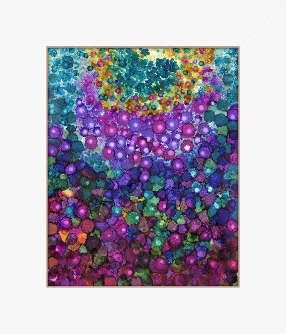 abstract garden PRINT 8 x 10 by sweetdashsprout on Etsy, $18.00