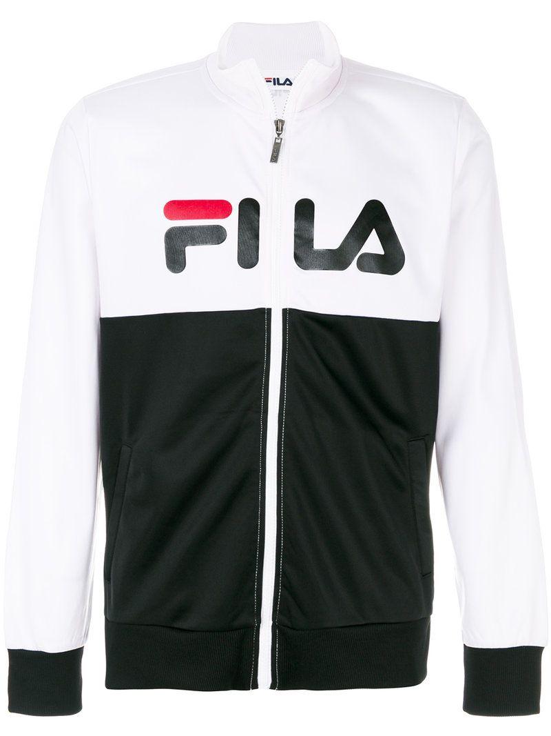 69a18a3f FILA FILA - SLOGAN FRONT ZIP UP SWEATSHIRT . #fila #cloth #   Fila ...