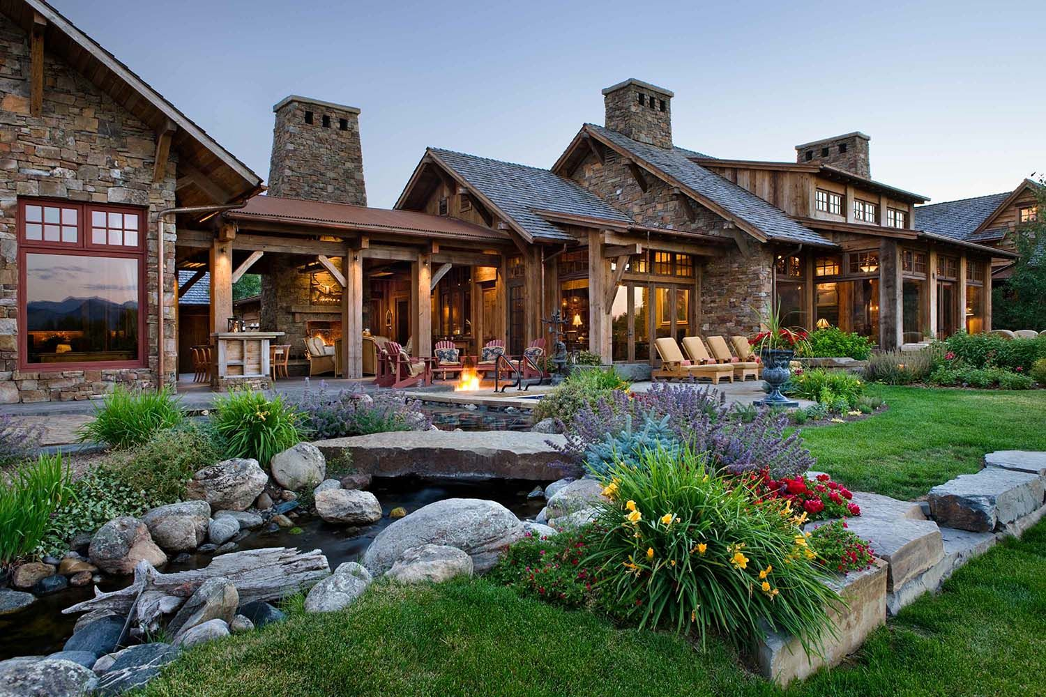 A Rustic Family Compound In The Mountains Of Montana Rustic House House Exterior Dream House