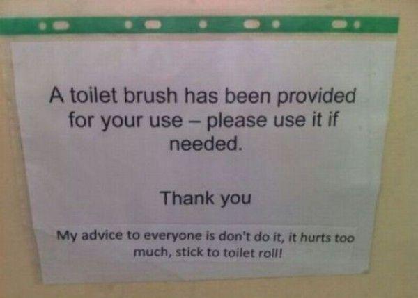 Bathroom Humor toilet brush provided | funny! | pinterest | toilet brush, funny