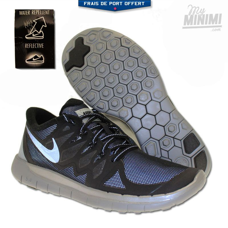 Photo Nike Free 5.0 Flash - Chaussures enfant du 36 au 40 - Noir et Gris   nike  minimi  freerun  kids  shoes  sneakers  fashion  swagg 2bd06fb16dbf