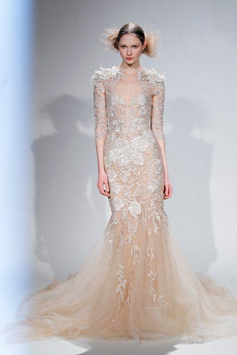 See The Gorgeous Gown That Inspired Behati Prinsloo S Custom Marchesa Wedding Dress Marchesa Wedding Dress Wedding Dress Styles Wedding Dresses