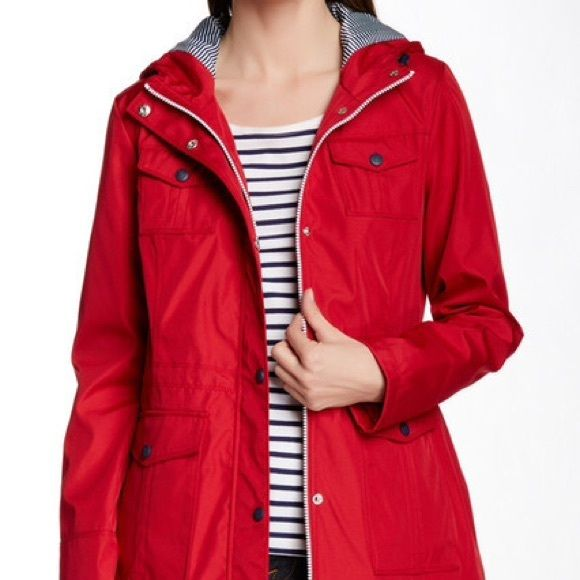 Jessica Simpson Red Patch Pocket Anorak Adorable red rain jacket ...