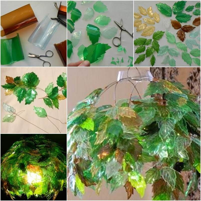 How to diy unique chandelier from plastic bottles for Diy recycled plastic bottles