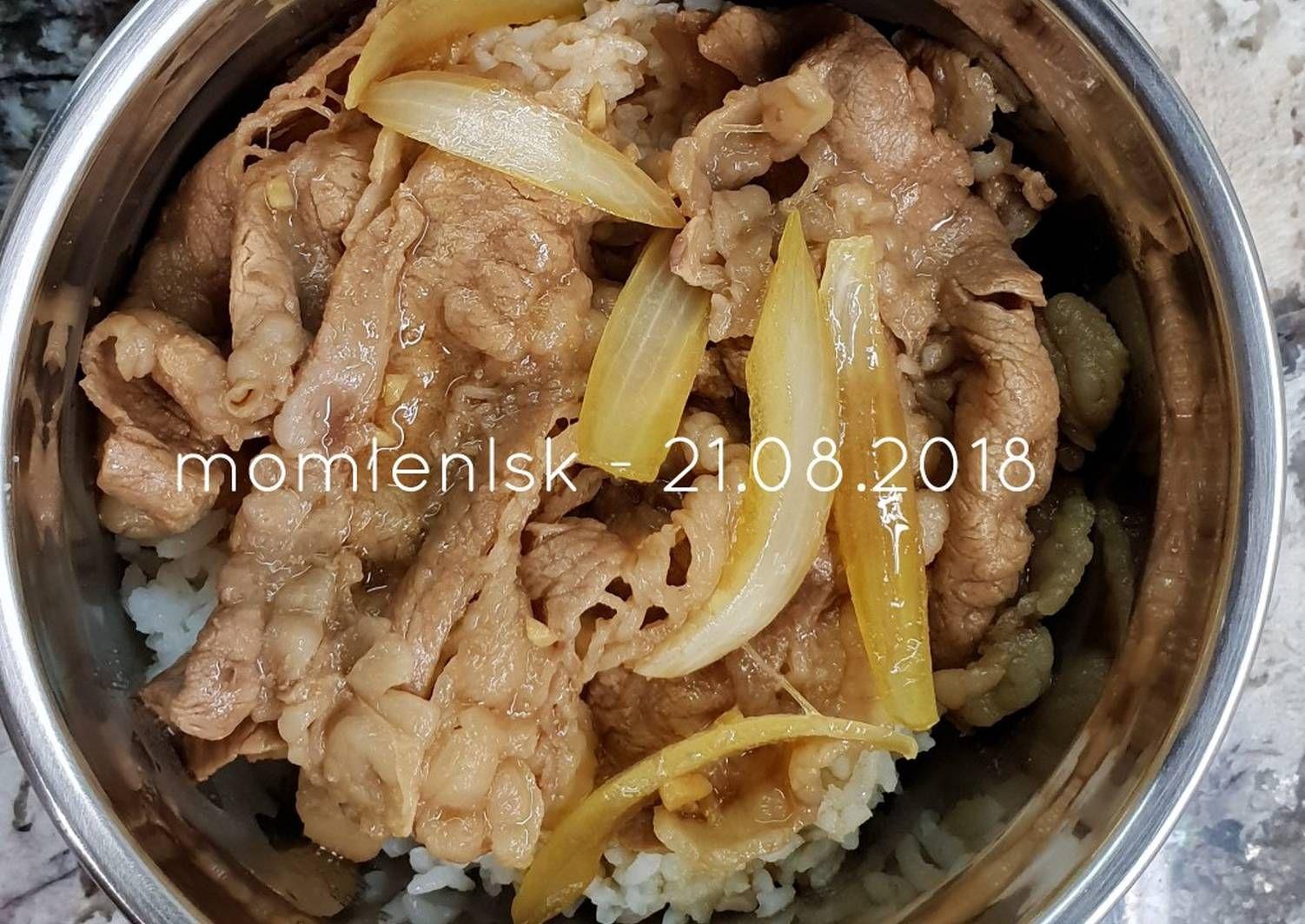 Resep Gyudon Yoshinoya An Oleh Momlenlsk Resep Daging Resep Daging Sapi