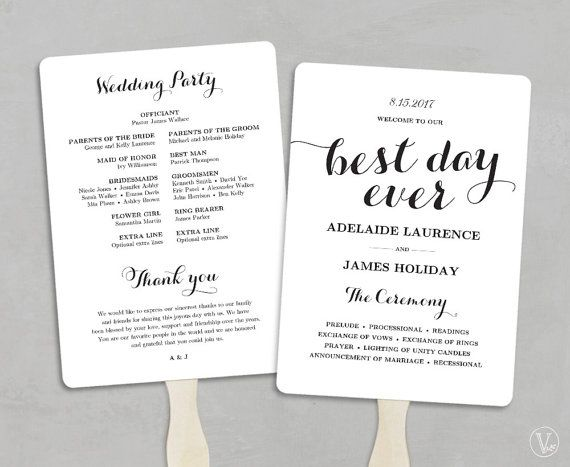 This Is An INSTANT DOWNLOAD Printable Wedding Program Template That Affordable Stylish And High