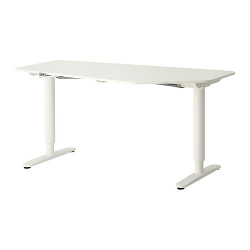 BEKANT 5-sidigt skrivbord sitta/stå IKEA