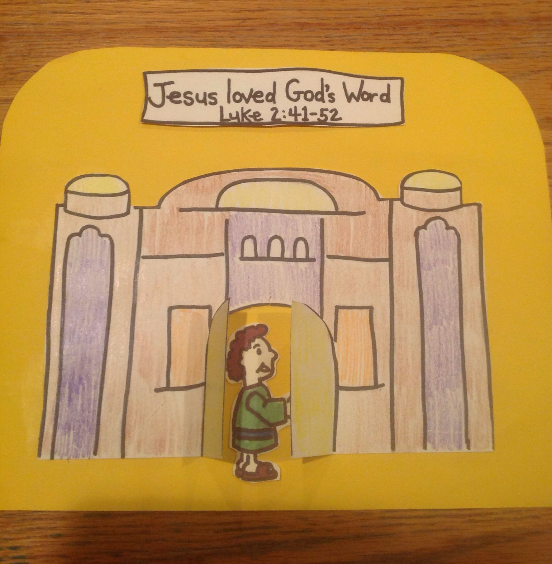 Jesus Teaching In The Temple Bible Craft By Let