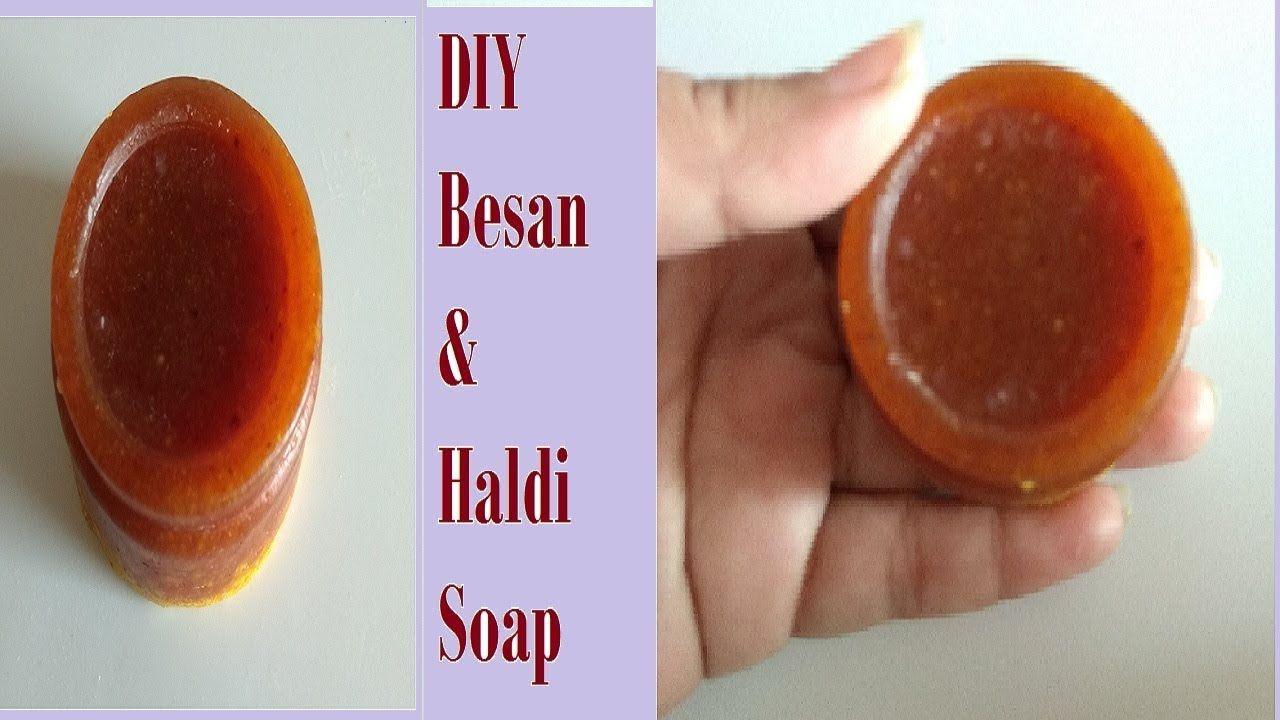 Homemade besan haldi soapwith aloevera honey
