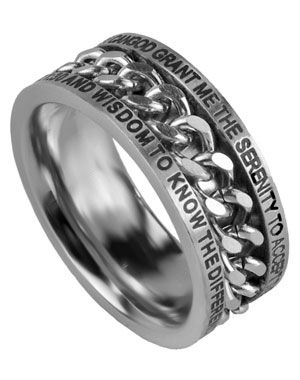 The Serenity Prayer God Grant Me The Serenity To Accept The Things I Cannot Change Courag Serenity Prayer Ring Chains For Men Serenity Prayer Jewelry