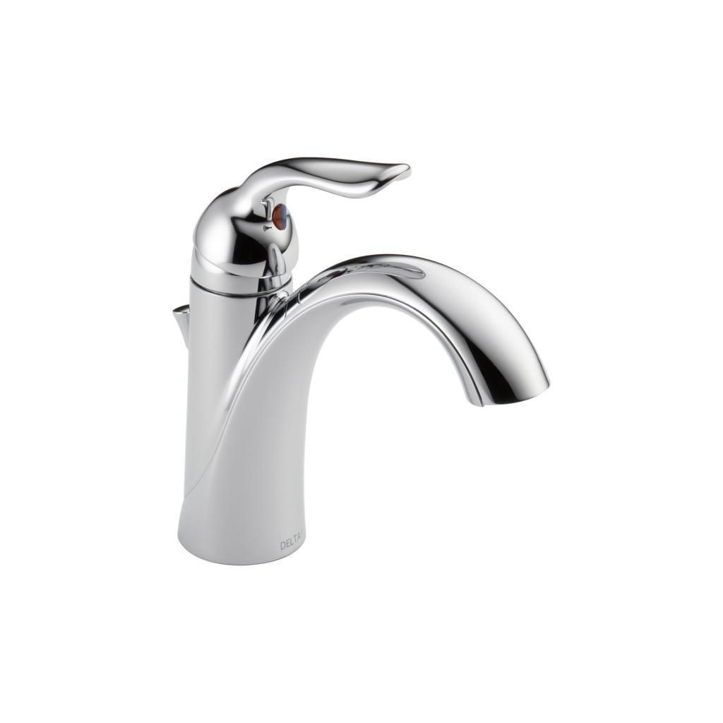 Delta Lahara Single-handle Centerset Lavatory Faucet in Chrome (Grey ...