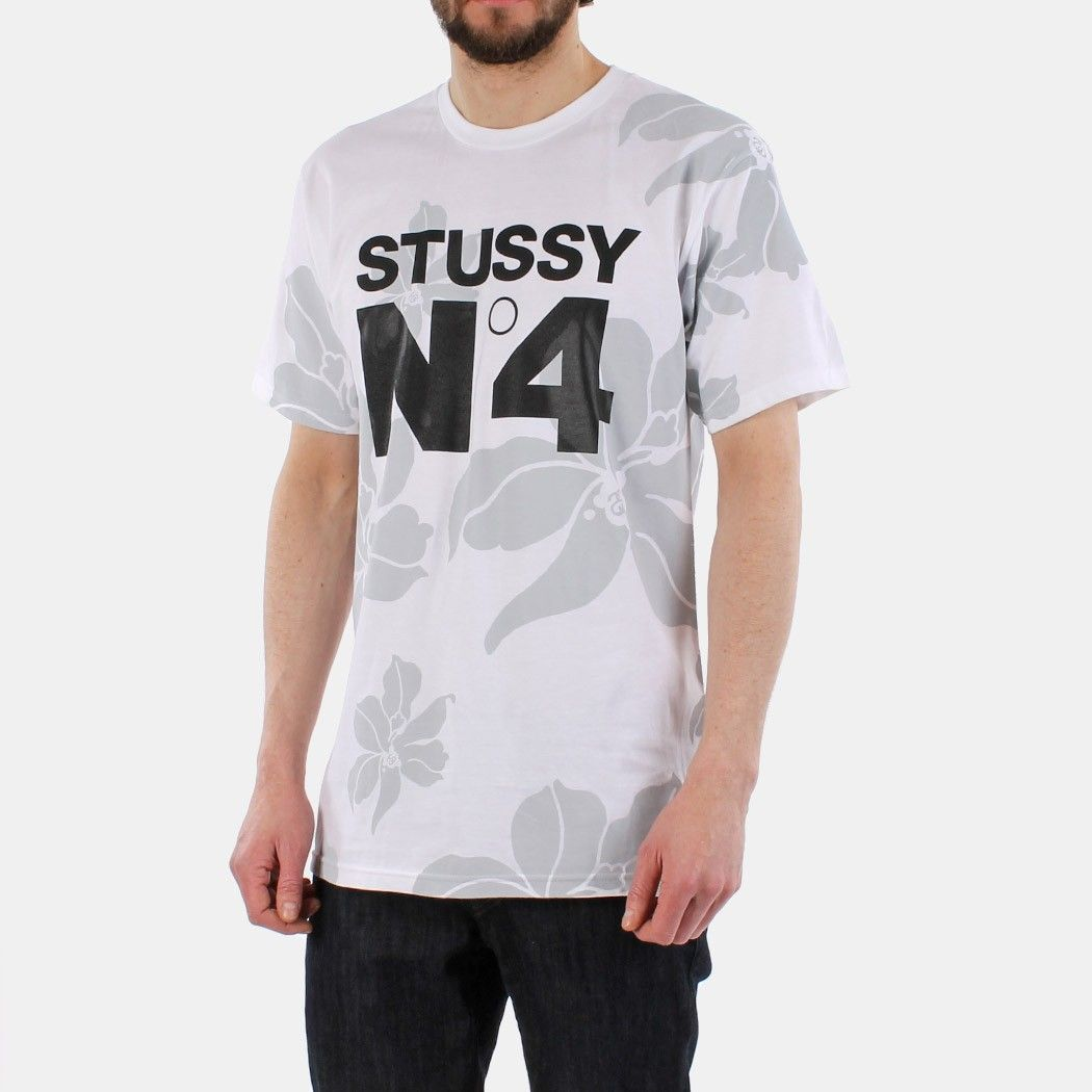 Stussy No.4 Flowers T-shirt - White