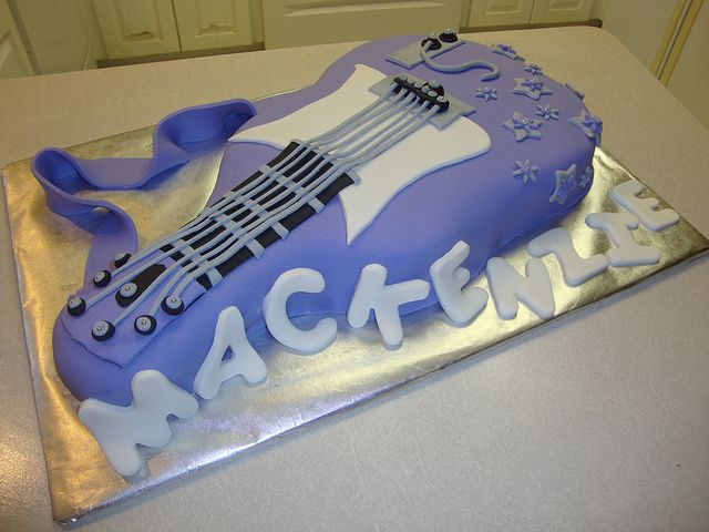 Rock star guitar cake Unique Kids Birthday Cakes Volume 2